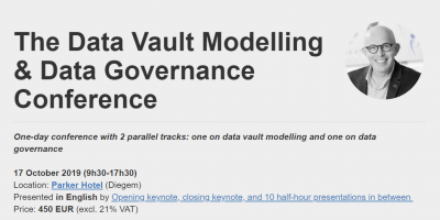 Header The Data Vault Modelling & Data Governance Conference