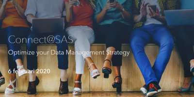 Header image Connect@SAS, Optimize your Data Management Strategy